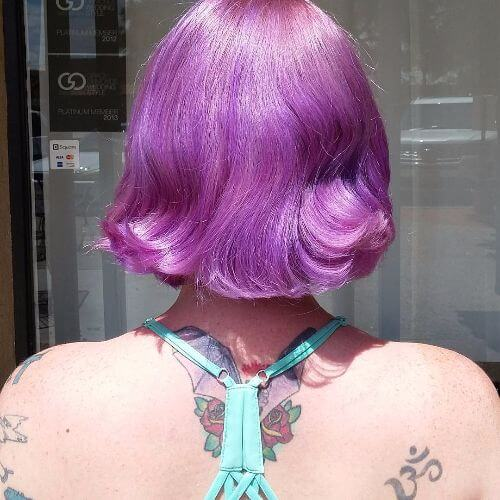 short lavender hair