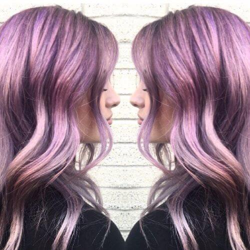 grey hair and lavender hair color