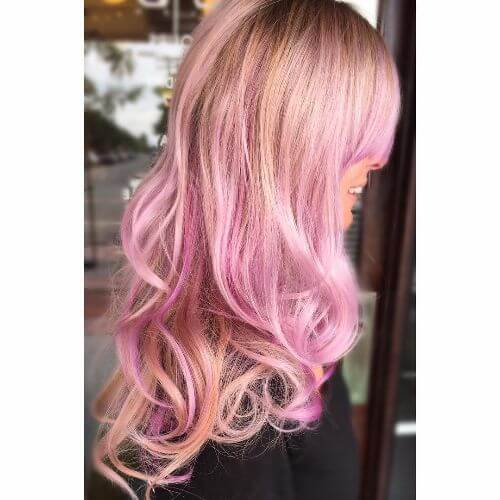 pink lavender hair color