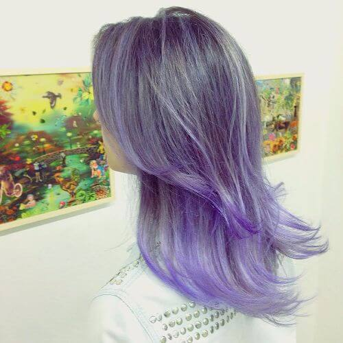 lavender blue hair