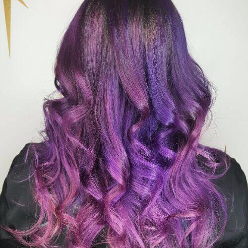 long lavender hair