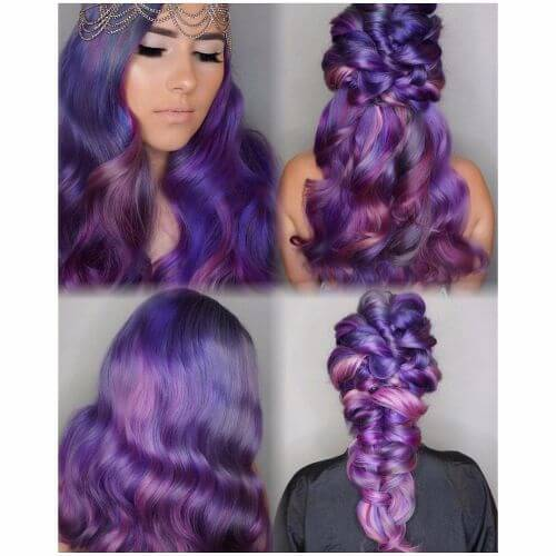 deep lavender and purple hair