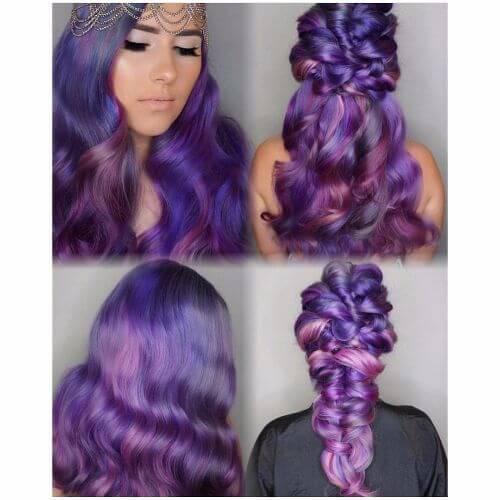 deep lavender and purple hair