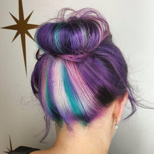 lavender hair updo