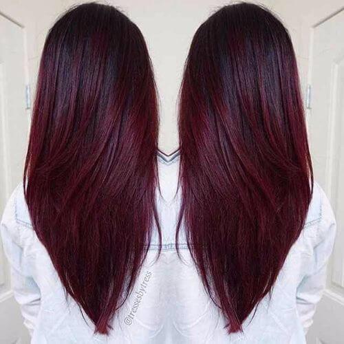 Resultado de imagem para burgundy hair