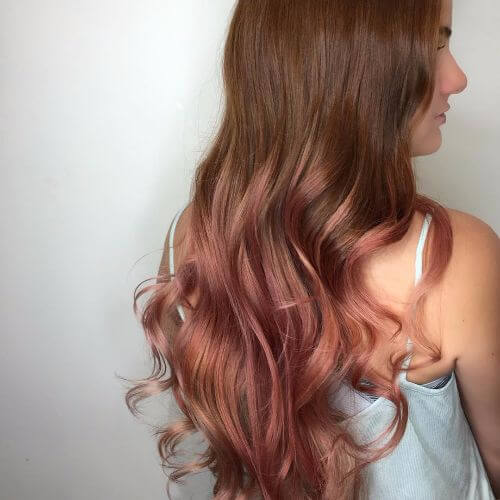 Light Burgundy Ombre