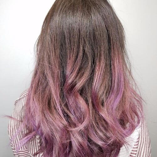 Grape Juice Hair Colors Ideas Purple Dip Dye On Blonde
