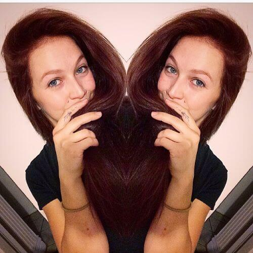 brown burgundy hair