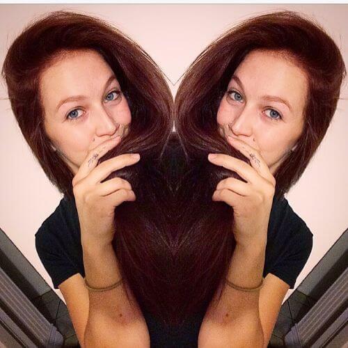 brown burgundy hair