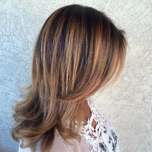 Ombre hair brown to red to blonde