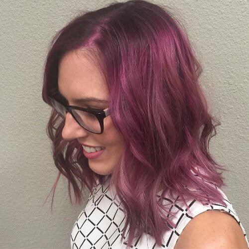 medium length lavender hair
