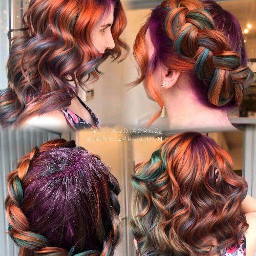 girl with mermaid hair