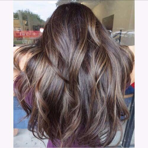 long hair with balayage highlights