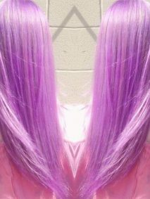 long lavender hair