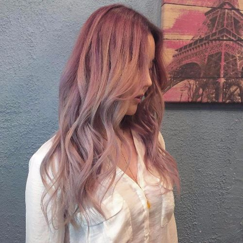 pink balayage highlights