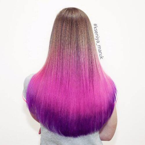 blonde to purple ombre hair