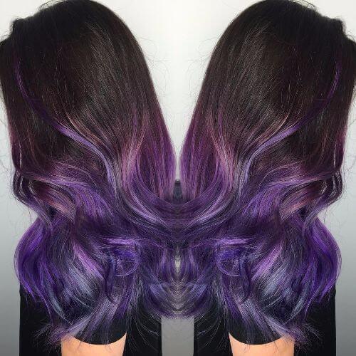 purple black hair