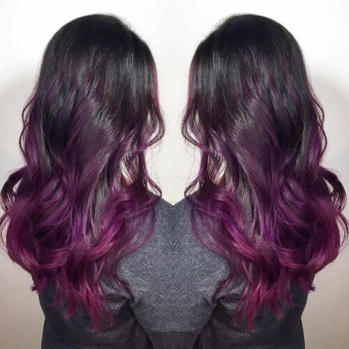 black violet ombre hair - photo #19