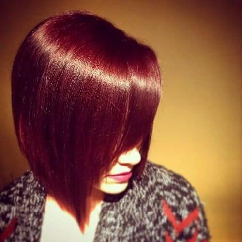red burgundy hair