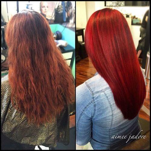 auburn burgundy hair color