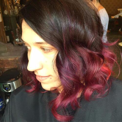 burgundy purple ombre