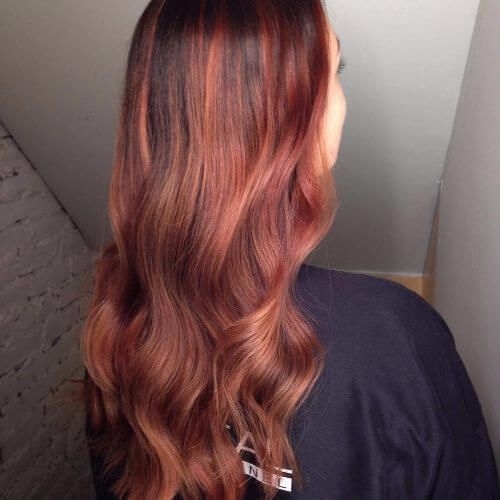 red hair balayage