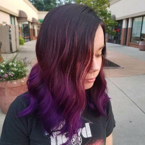 purple hair colors in ombre
