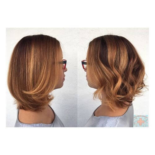 blonde balayage highlights on medium hair
