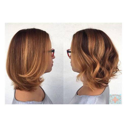 blonde balayage highlights on medium hair