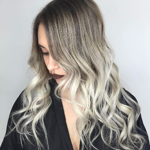 silver hair with blonde highlights