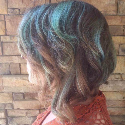 pastel balayage on short hair