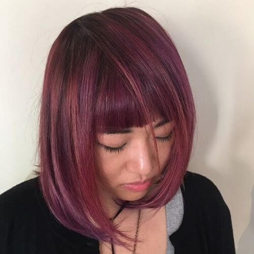 lavender balayage highlights