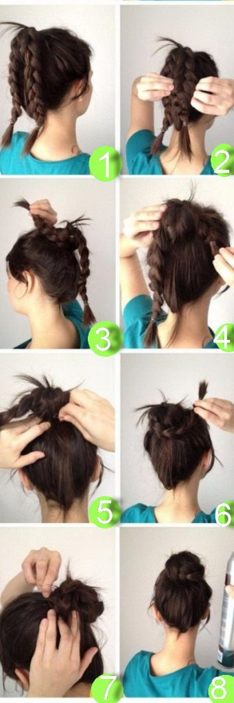 10 Minute Easy Braided Bun for Happy Thursdays