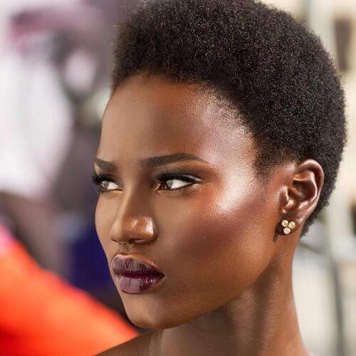 Funke William afro short haircut