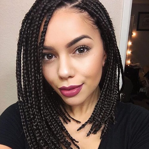 Asymmetrical Bob Box Braids