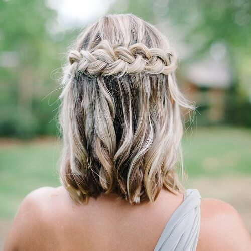 bohemian wedding hairstyle with back braid