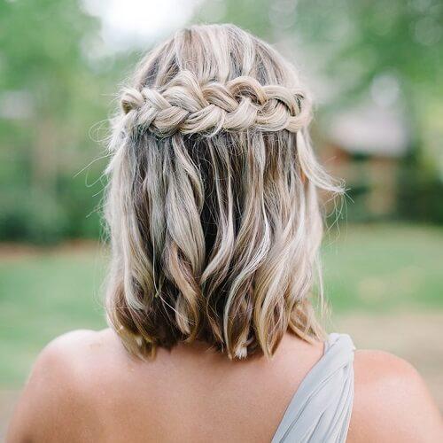 bohemian wedding hairstyle with back braid