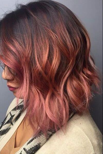 Bold Pink Sombre for Black Hair