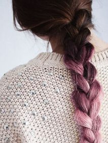 Braided Pink Ombre Hair