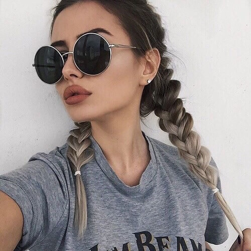 Braided and Blended Pigtails