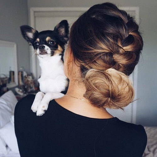 Braiding into a Bun