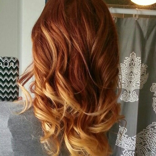 Brick Balayage Ombre Hair