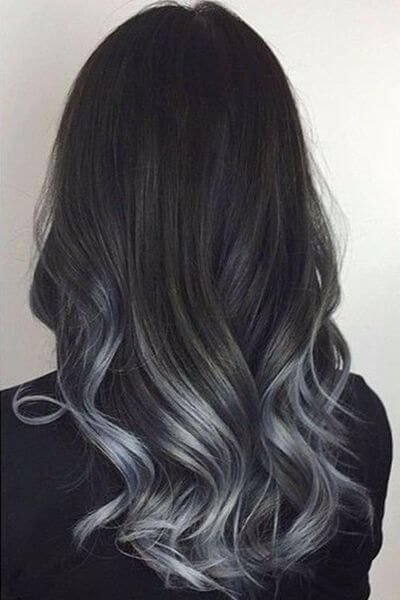 Charcoal Gray to Black Sombre Hairstyle