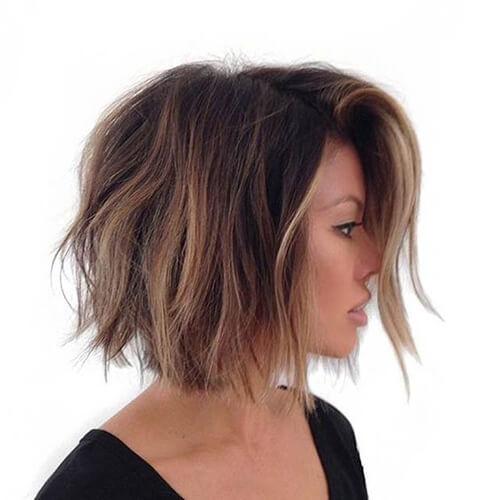 Choppy Balayage Short Hair