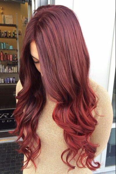 Copper Pink Sombre for Red Hair