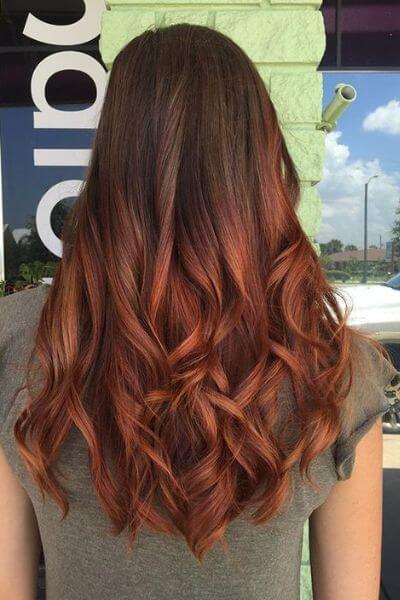 Copper Sombre for Dark Hair