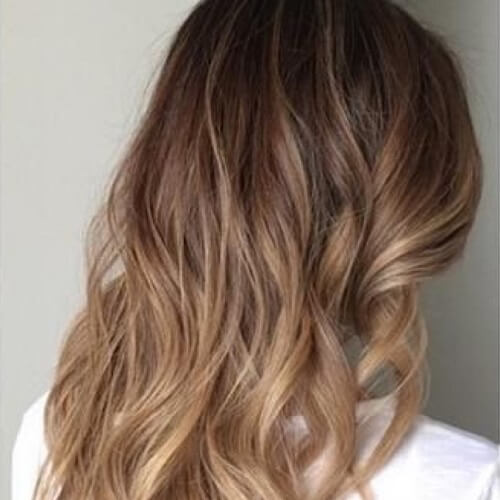 creamy beige ombre hair