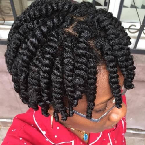 short afro crochet braids