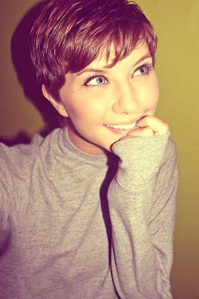 Cute Pixie Cut for Thin Brown Hair