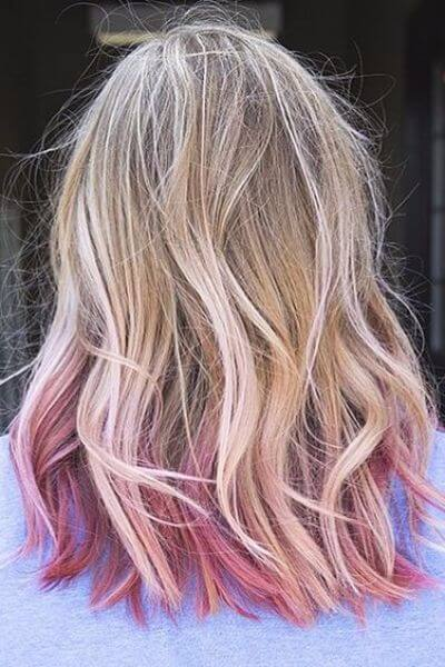Daring Pink Sombre for Blonde Hair